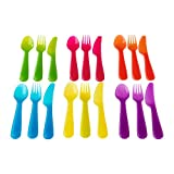 Ikea Kalas 901.929.62 18-Piece BPA-Free Flatware Set, Multicolored