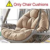 SQINAA Hanging Egg Hammock Chair Cushions Without Stand,Multi Color Swing seat Cushion Thick nest Hanging Chair Back with Pillow-D