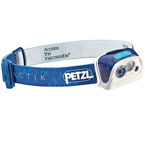 Petzl - ACTIK Headlamp, 300 Lumens, Active Lighting, Blue