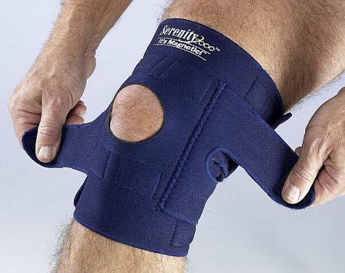 Serenity 2000   Magnetic Therapy Knee Brace for Support and Pain Relief – Large, Fits Knees 18'-26', Contains 34 Magnets