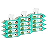 Seventh Generation Thick & Strong Free and Clear Baby Wipes Refill, Pack of 12 (Total 768 Count)