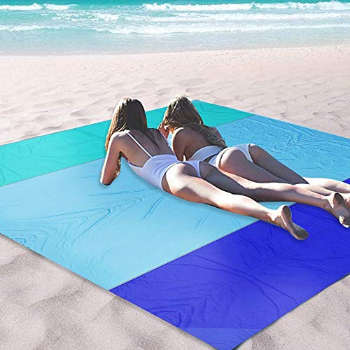 OCOOPA Sandfree Beach Blanket 10'X 9' Extra Large, Soft Pocket Picnic Blanket, Waterproof Outdoor Family Mat for Beach, Camping, Hiking, Music Festival, Machine Washable