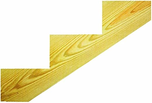 Miller Sr 3Sel Treated 3 Step Stringer Staircase Step Treads | Pressure Treated Stair Treads | Live Edge | Outside | Picture Frame | Step | Unsafe