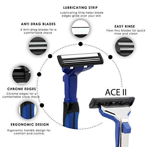 Hajamat Ace II 2 Blade Manual Shaving Razor for Men (1 Handle 20 Blades) 19