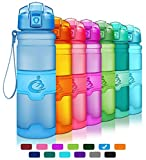 Grsta Sports Water Bottle,Leak-Proof Tritan Plastic BPA Free Kids Water Bottle with Filter/Locking Flip Lid,14 Oz,17 Oz,25 Oz,33 Oz for Children,Running,Gym,School,Outdoors(Blue,400ml/14oz)