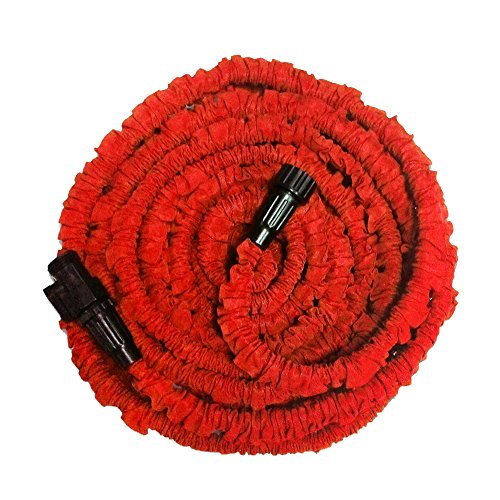 Garden Hose, Expandable Garden Hose, 25ft Expanding Garden Hose Lightweight Durable Heavy Duty Flexible Pressure Washer Water Hose for Car Wash Cleaning Watering Lawn Garden Plants Red