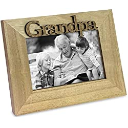Natural Wood Sentiments Grandpa Picture Frame