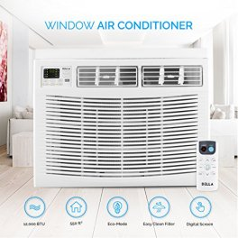 Della-12000-BTU-Window-Air-Conditioner-1250W-110V60Hz-121-EER-Energy-Star-Efficient-Cooling-Rooms-up-to-550-Sq-Ft-with-60-Pint24hrs-Dehumification-Digital-Display-with-Remote