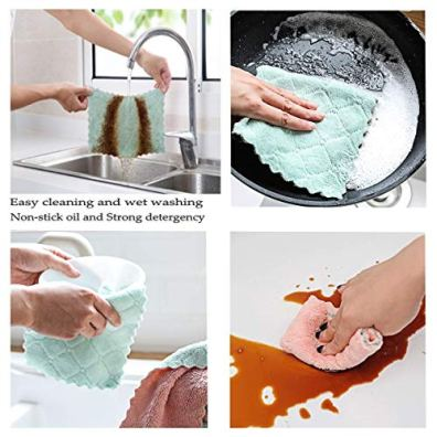 Vimi-Microfiber-Cleaning-Cloth-12-Pack-6x10Dish-Towel-for-All-Purpose-Assorted-Colors-Strong-Absorption-Water-and-Remove-The-Oil-and-dust-Kitchen-Towels