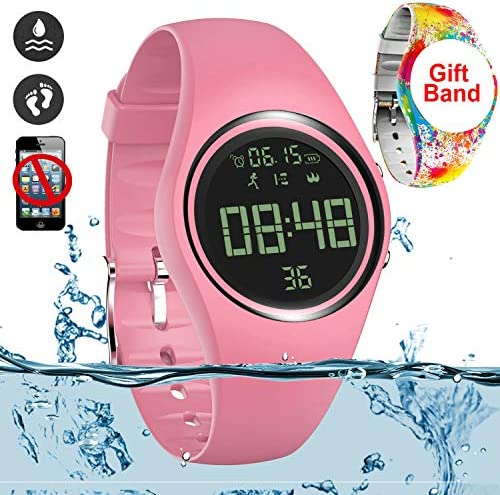 Latest and top rated Simple Fitness Tracker [IP68 Swim Waterproof & No APP Need] Walking Pedometer Watch Step Counter with Vibration Alarm Clock/Calorie Burned/Distance/Alarm/Stopwatch for Kids Women Men with best price