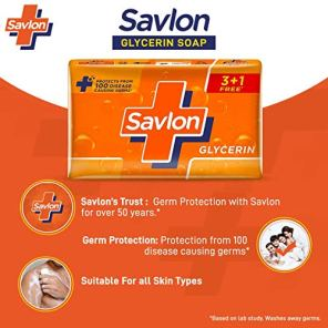 Savlon-Glycerin-Germ-Protection-Bathing-Soap-Bar-125g-Buy-3125g-Get-1125g-Free