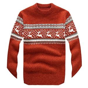 Amazing-cool Mens Sweaters 2018New Winter Mens Christmas Sweater with Deer Fashion Clothing Slim Fit Pullover