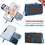 Baby Portable Diaper Changing Pad, Waterproof Diaper Changing Pad, Cushioned Portable Diaper Changing Pad, Travel Diaper Changing Mat, Detachable Foldable Diaper Changing Pad