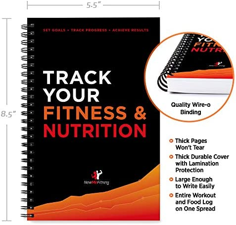 Workout/Fitness and/or Nutrition Journal/Planners - Designed by Experts, w/Illustrations : Sturdy Binding, Thick Pages & Laminated, Protected Cover 10