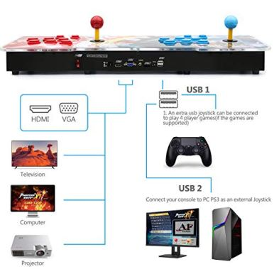 Best-brose-Pandoras-Box-11-Arcade-Game-Console-3003-Games-InstalledSupport-3D-Games-Games-Classification-Upgraded-CPU-Support-PS3-PC-TV-4-Players-Favorite-List-Blue