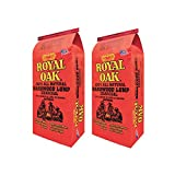 Royal Oak BBQ All Natural Premium 8 Pound Bag Lump Charcoal Starter Hardwood (2 Pack)