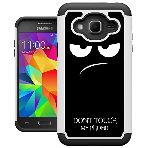 J3 2016 Case, Galaxy Express Prime Case, Amp Prime Case, UrSpeedtekLive [Shock Absorption] Dual Layer Hybrid Defender Cover Case for Samsung Galaxy J3 2016 / Express Prime / Amp Prime - Don't Touch