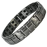 IonTopia Hermes Titanium Magnetic Therapy Bracelet Gunmetal with Free Links Removal Tool