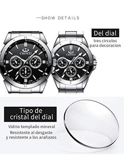 51eSimETexL - EXCOVIP Últimas Cuarzo Reloj Analógica de Relojes de Pulsera De Acero Inoxidable, Vida cotidiana a prueba de agua de Oferta en Amazon