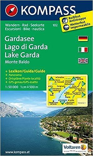 Amazonit Carta Escursionistica N 102 Lago Di Garda