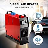 Partol Diesel Air Heater Forced Air Parking Heater 5KW 12V All In One Kit with Remote Controller Exhaust Pipe...