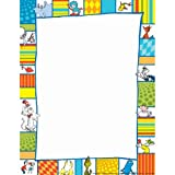 Eureka Back to School Shapes Computer Paper, Dr. Seuss Classroom Supplies, 50 pc