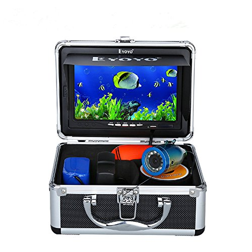 7' Color LCD 600tvl Waterproof 15m Cable 4000mah Rechargeable Battery Fish Finder Underwater Fishing Video Camera with Carry Case