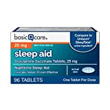 Basic Care Sleep Aid, Doxylamine Succinate Tablets, 25 mg, 96 Count