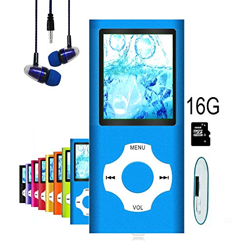 MP3 Player / MP4 Player, Hliwoynes MP3 Music Player with 16GB Memory SD card Slim Classic Digital LCD 1.82'' Screen MINI USB Port with FM Radio, Voice record