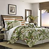 Tommy Bahama Palmiers Comforter Set, King, Medium Green
