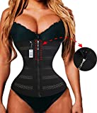 Product review for Gotoly Plus Size Long Torso Zipper Whit Hook Waist Trainer Fitness Body Shaper