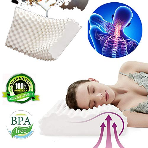 Rhyl Cervical Pillow for Neck Pain - 100% Cervical Pillow Latex Tricore Pillow - Cervical Support Pillow - Luxurious from Thailand