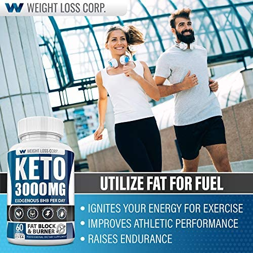 Keto Diet Pills - 3000MG - Exogenous BHB - Made in USA - Professional Certified Facility - 60 Capsules of Ketosis Supplement - Best Ketogenic Supplement for Women & Men 6