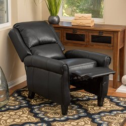 Christopher Knight Home Haddan Lloyd Black Leather Recliner Club Chair