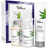 Youth Restoring Night Holiday Bundle - Glycolic Cleanser, Retinol Serum, Collagen Night Cream - Anti Aging Skin Care Kit Reduce Wrinkles, Fine Lines, Dark Spots & Hyperpigmentation - InstaNatural