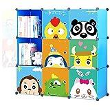 Product review for KOUSI Kids' Toy Storage Organizer Bookcase, 9 Storage Cube Blue