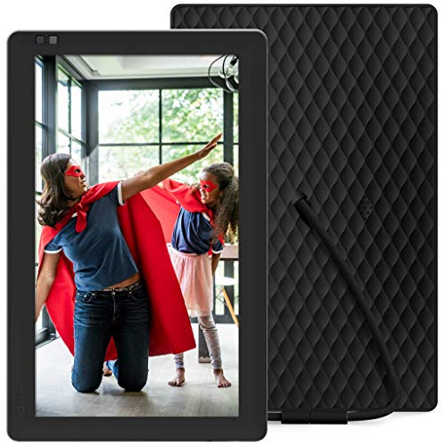 Nixplay Seed 10.1 Inch Widescreen Digital Wifi Photo Frame W10B Black - Digital Picture Frame with IPS Display and 10GB Online Storage, Display and Share Photos with Friends via Nixplay Mobile App