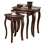 Product review for Coaster 901076 3-Piece Curved Leg Nesting Table Set, Brown
