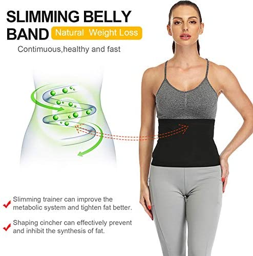 Waist Trainer for Women Weight Loss Everyday Wear,Waist Trimmer Sauna Sweat Workout Shaper Enhancer Body Slimmer Sauna Slimming Belt for Stomach Weight Loss Fitness Sweat Belt Abdominal Trainers S&M 5