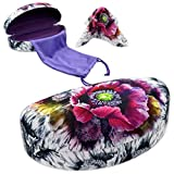 MyEyeglassCase Hard Sunglasses Cases for Large to oversized frames with cleaning cloth (AS179 Poppy)