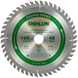 Oshlun SBFT-160048 160mm 48 Tooth FesPro Crosscut ATB Saw Blade with 20mm Arbor for Festool TS 55 EQ, DeWalt DWS520, and Makita SP6000K