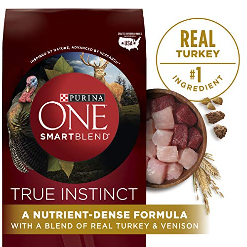 Purina ONE High Protein Natural Dry Dog Food, SmartBlend True Instinct With Real...
