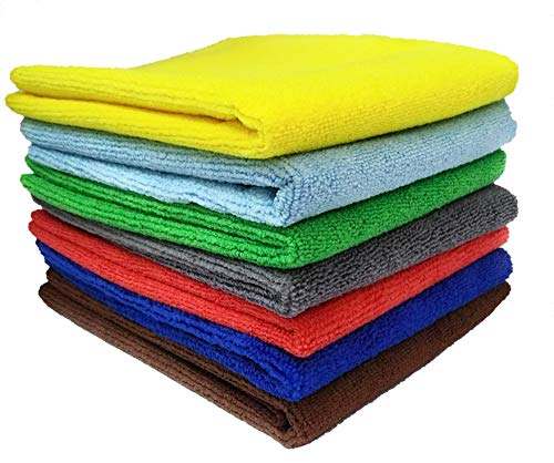 SOBBY Microfibre Cleaning Cloth - 40 cm x 40 cm - 340 gsm, (Multicolor, Pack of 4) 3