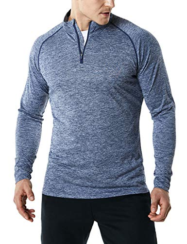 TSLA Men's 1/4 Zip Cool Dry Active Sporty Shirt MKZ02 / MKZ03 1 Fashion Online Shop Gifts for her Gifts for him womens full figure