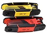 Texas Best Folding Metric and SAE Hex Keys   Durable Construction 2 Pack