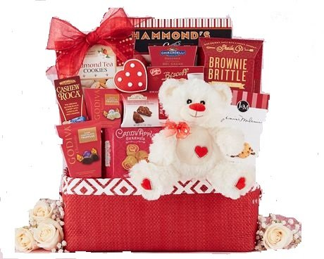 Happy Valentine's Day Gift Basket