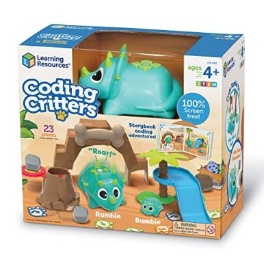 Learning-Resources-Coding-Critters-Rumble-Bumble-Toy-of-the-Year-Award-Winner-Interactive-STEM-Coding-Toy-Early-Coding-Toy-for-Kids-23-Piece-Set-Ages-4