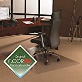 Cleartex Ultimat Chair Mat, Polycarbonate, for Plush Pile Carpets Over 1/2', Rectangular, 48' x 60' (FR1115227ER)