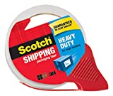 Scotch Heavy Duty Shipping Packaging Tape with Refillable Dispenser, 3' Core, 1.88' x 54.6 yd, 1 Pack(3850-RD)