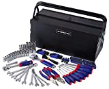 WORKPRO W009038A 183-Piece Tool Set w/ 5 Compartment Cantilever Tool Box